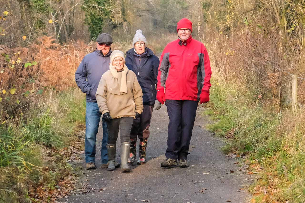 Visitors enjoying a local walk
