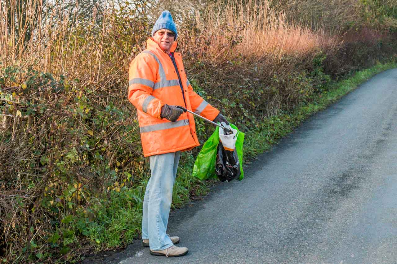 Peter doing us all a service - look out for his Picking up litter days, he always needs help