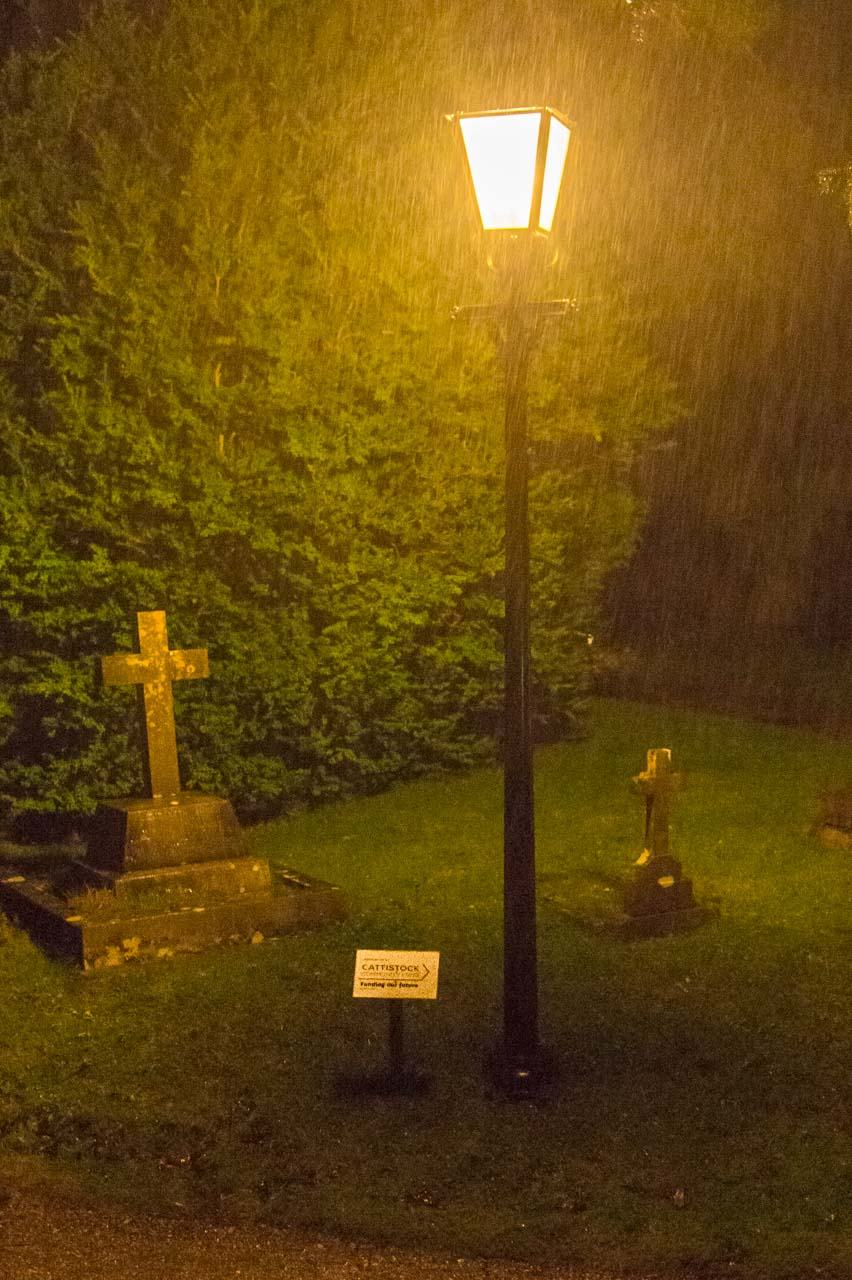 The Lamp post is a great boost to the Churchyard and was entirely funded by the Cattistock Community Fund