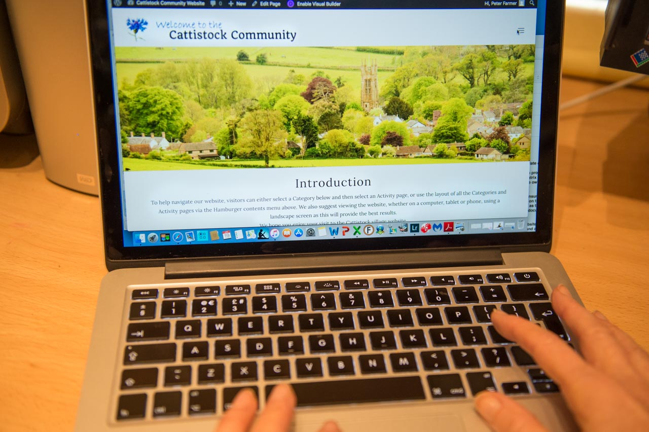 It is entirely due to the Cattistock Community Fund's support and generosity that we have this new website