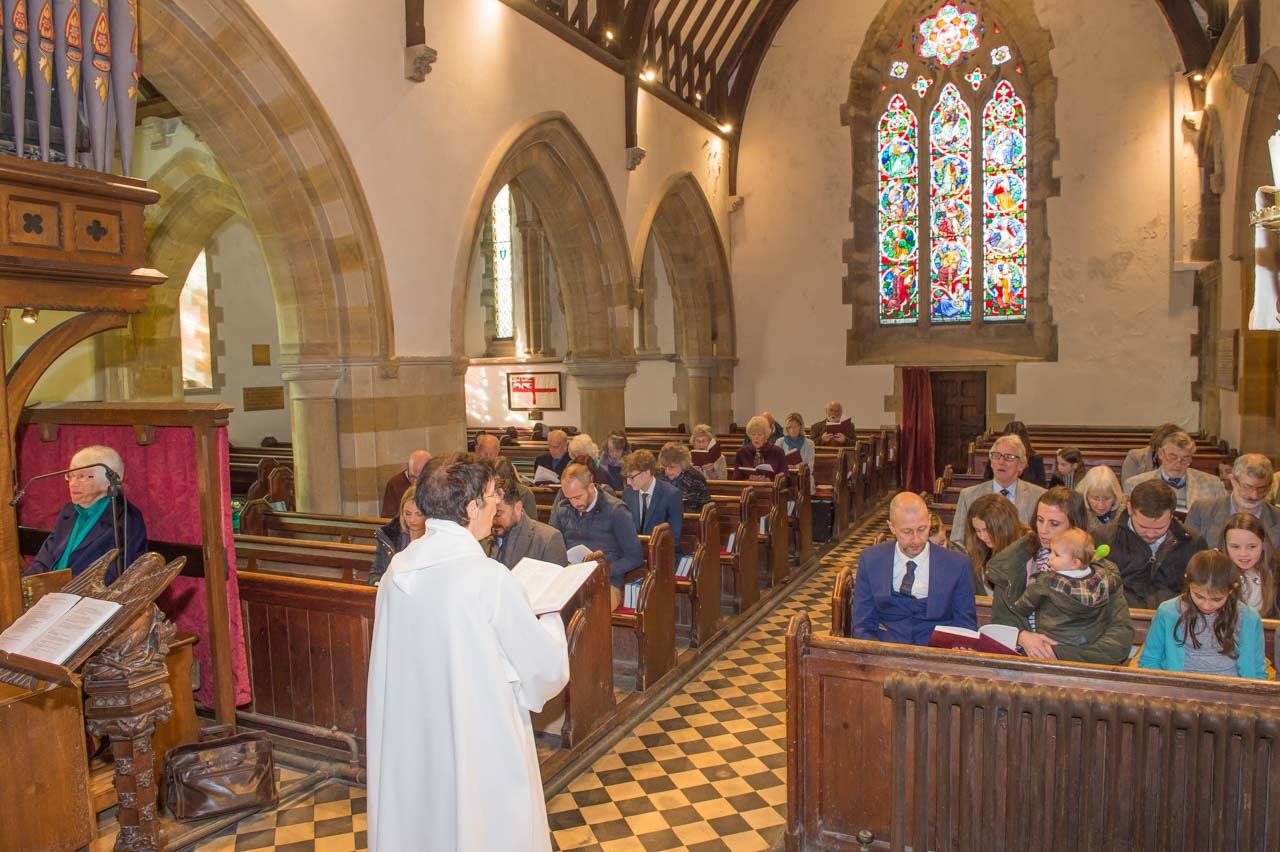 A service, led by Linda Wilcock, Associate Priest, plus Ann Smith playing the church organ of 1869