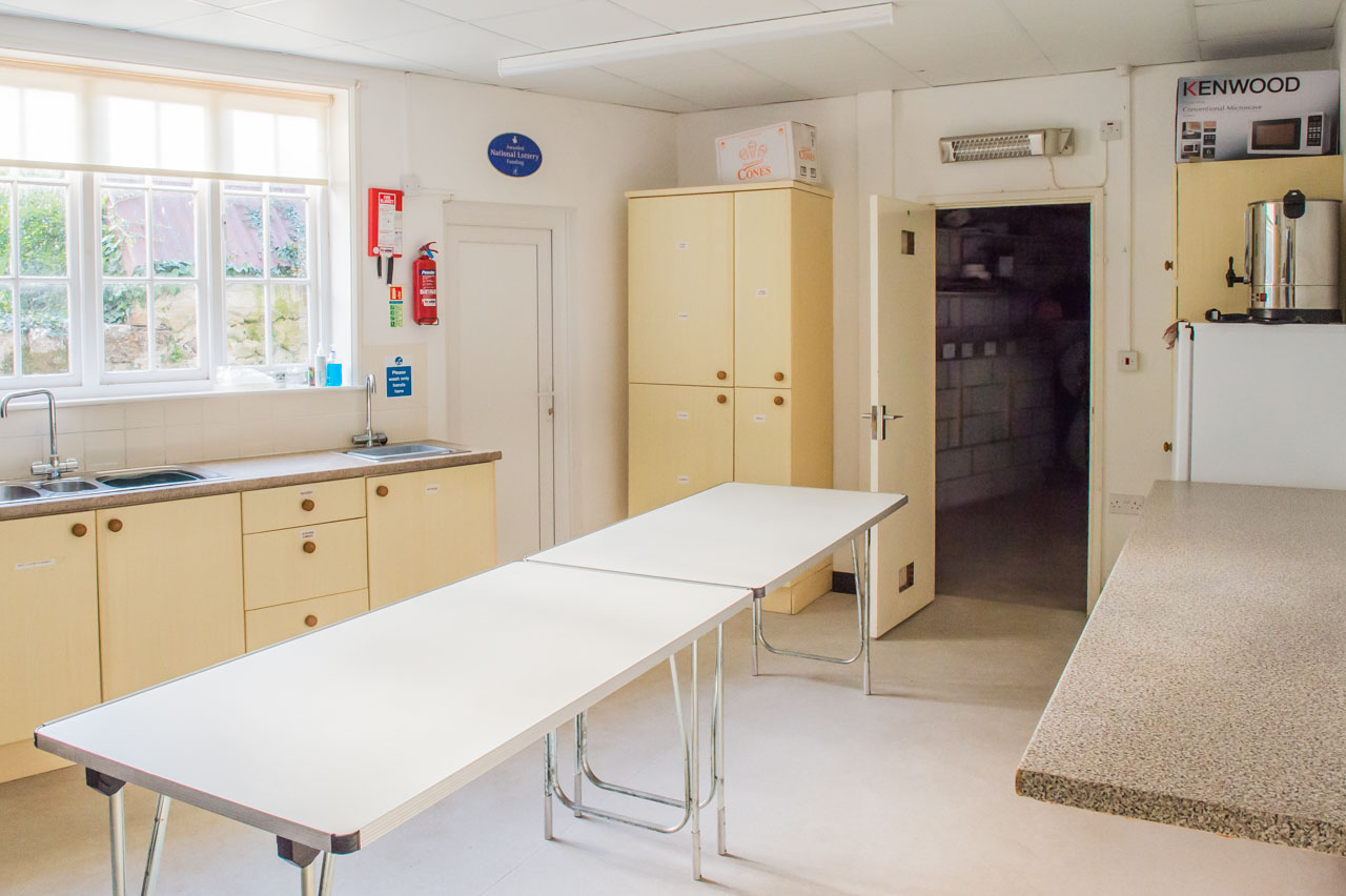 Plenty of workspace, storage space, another fridge, plus a commercial Water boiler