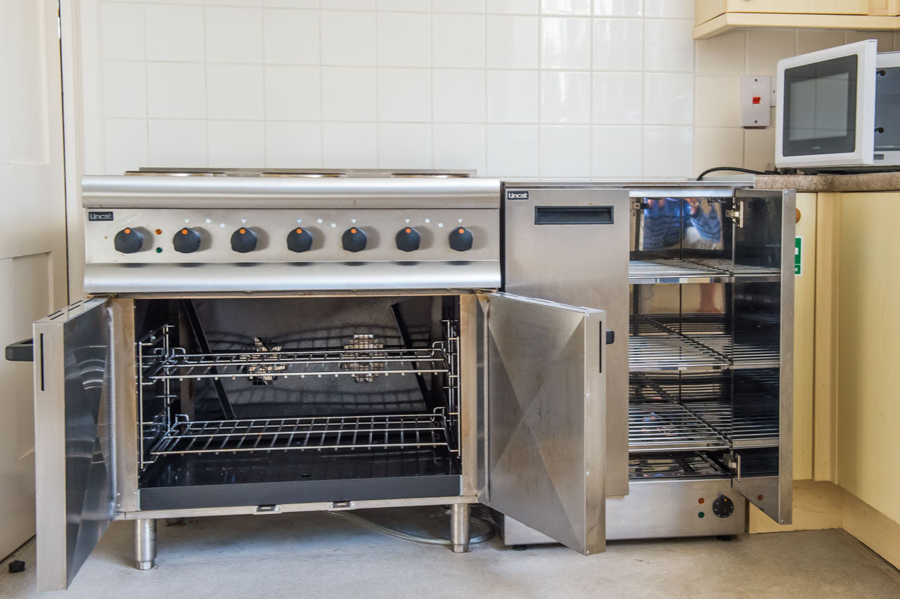 A close up of the high quality Electric Oven Range and Hot Cupboard