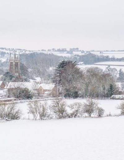 Another view of Cattistock in the snow