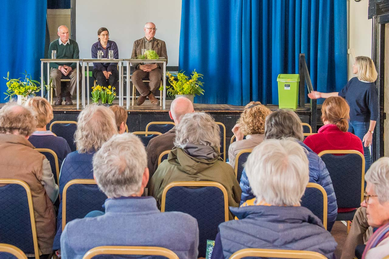 Cathy welcoming the panel of experts to another Cattistock Gardeners Question Time