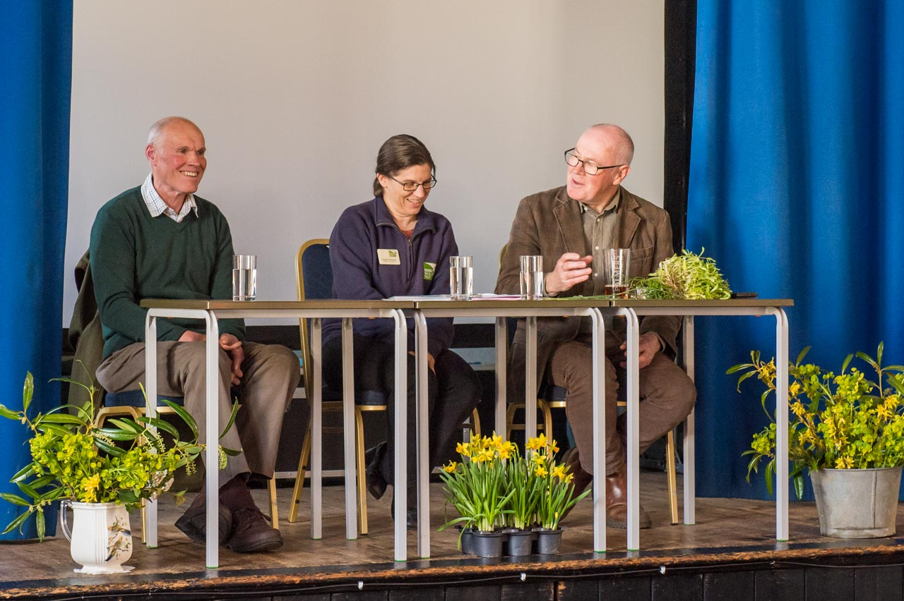The panel of experts, right to left, John Wright, Imogen Davenport and Nigel Hewish