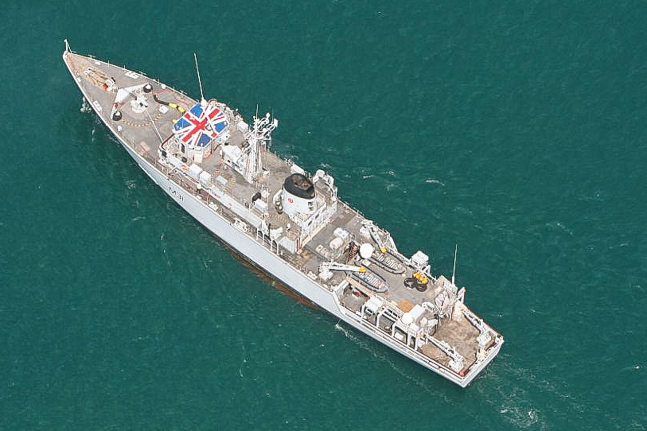 A recent aerial view of the current HMS CATTISTOCK