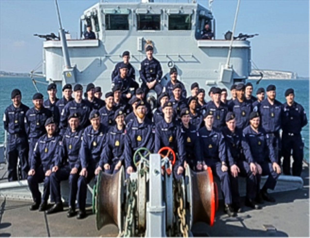 The Ship's company of HMS CATTISTOCK M31, Hunt Class Minesweeper