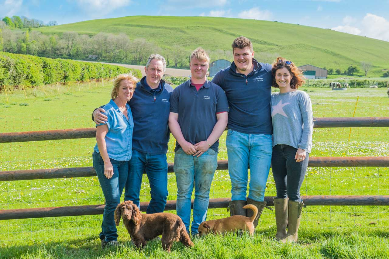 Our Manor Farm neighbours: Helen, Dan, Bertie, Pearce and Tillie (plus Oswald and Bear) - read about them on this page
