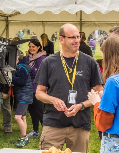 Terry spent a long time with the CBBC team, doing a superb job explaining everything about the Dorset Knob Throwing event
