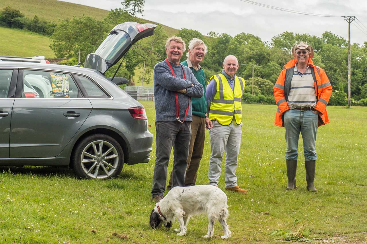 Open Gardens 2019 Car Park duty with Patrick, John, Ian and Peter (and Willow)
