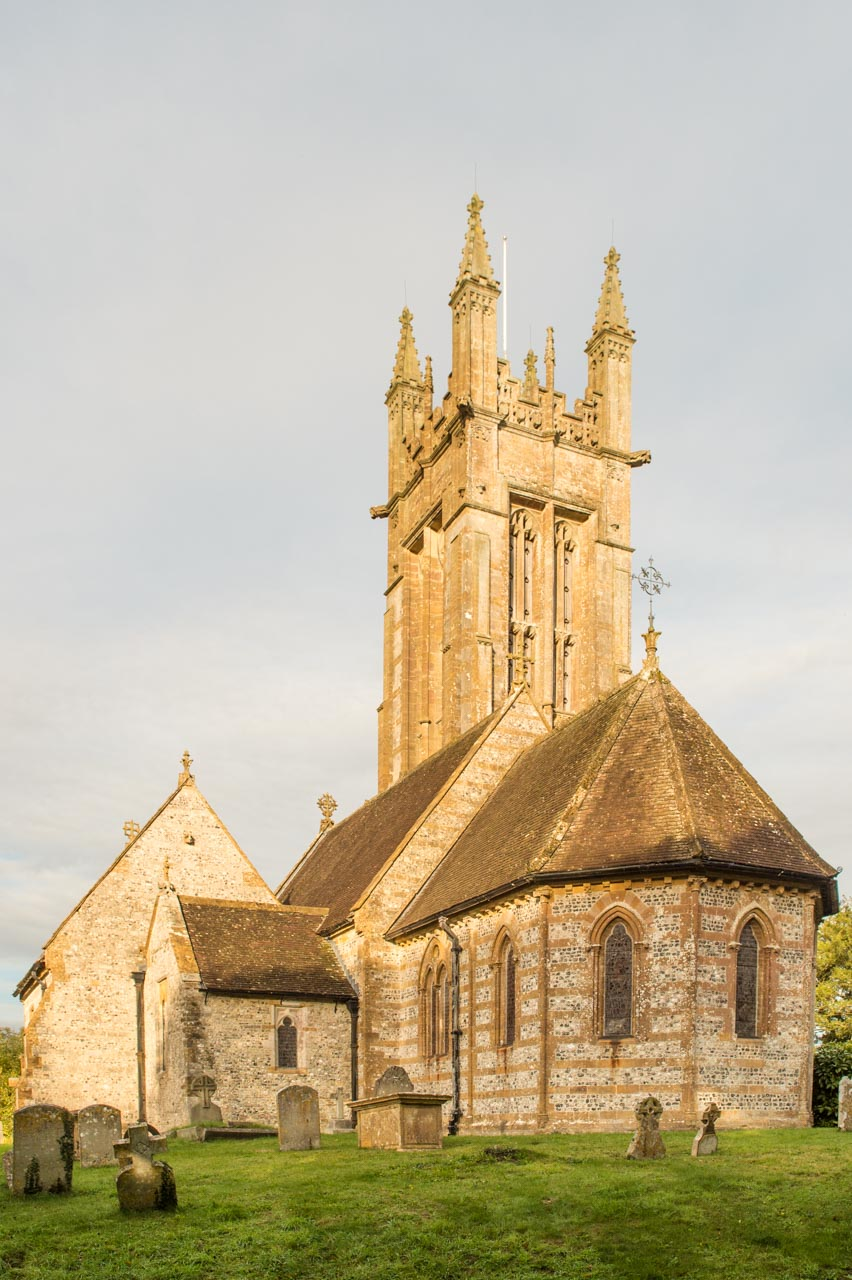 An external view of the beautiful Church of St Peter and St Paul
