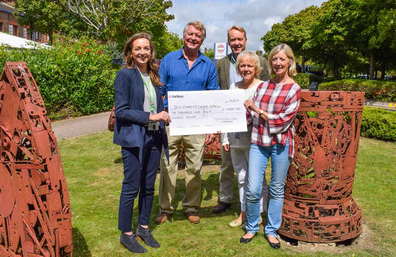 Patrick, Sheila and Cathy represent Cattistock in presenting a donation to the Chemo Appeal