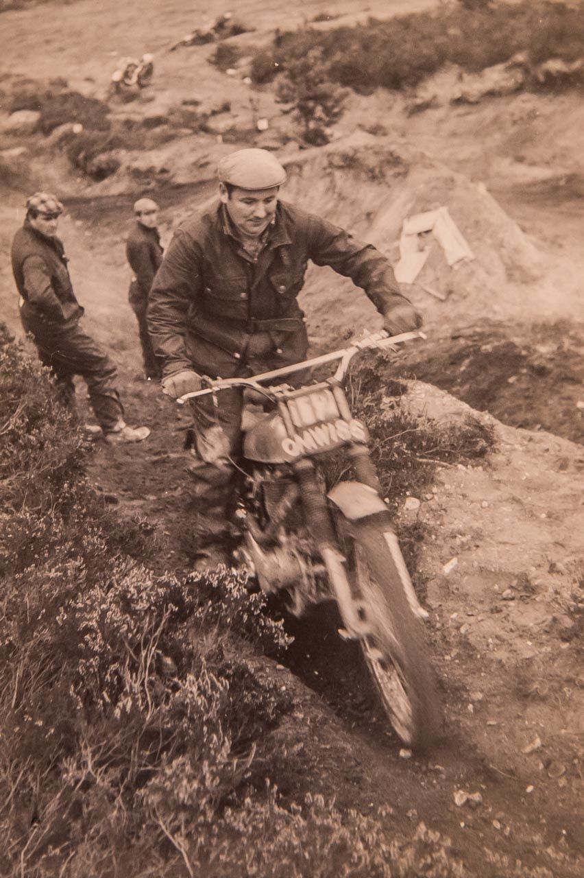 Eric Trials riding in the 60's