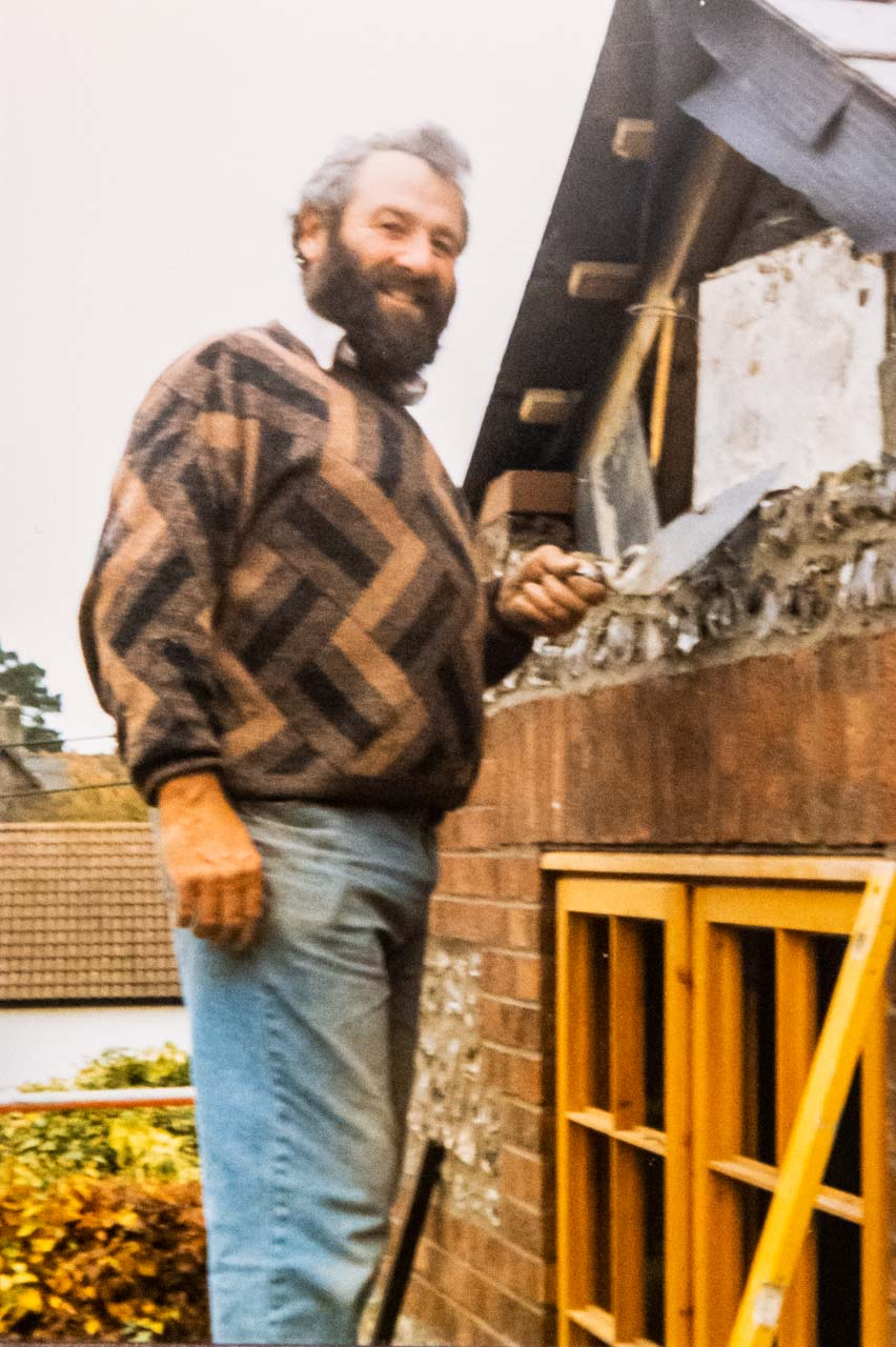 Eric renovating a house in Piddlehinton