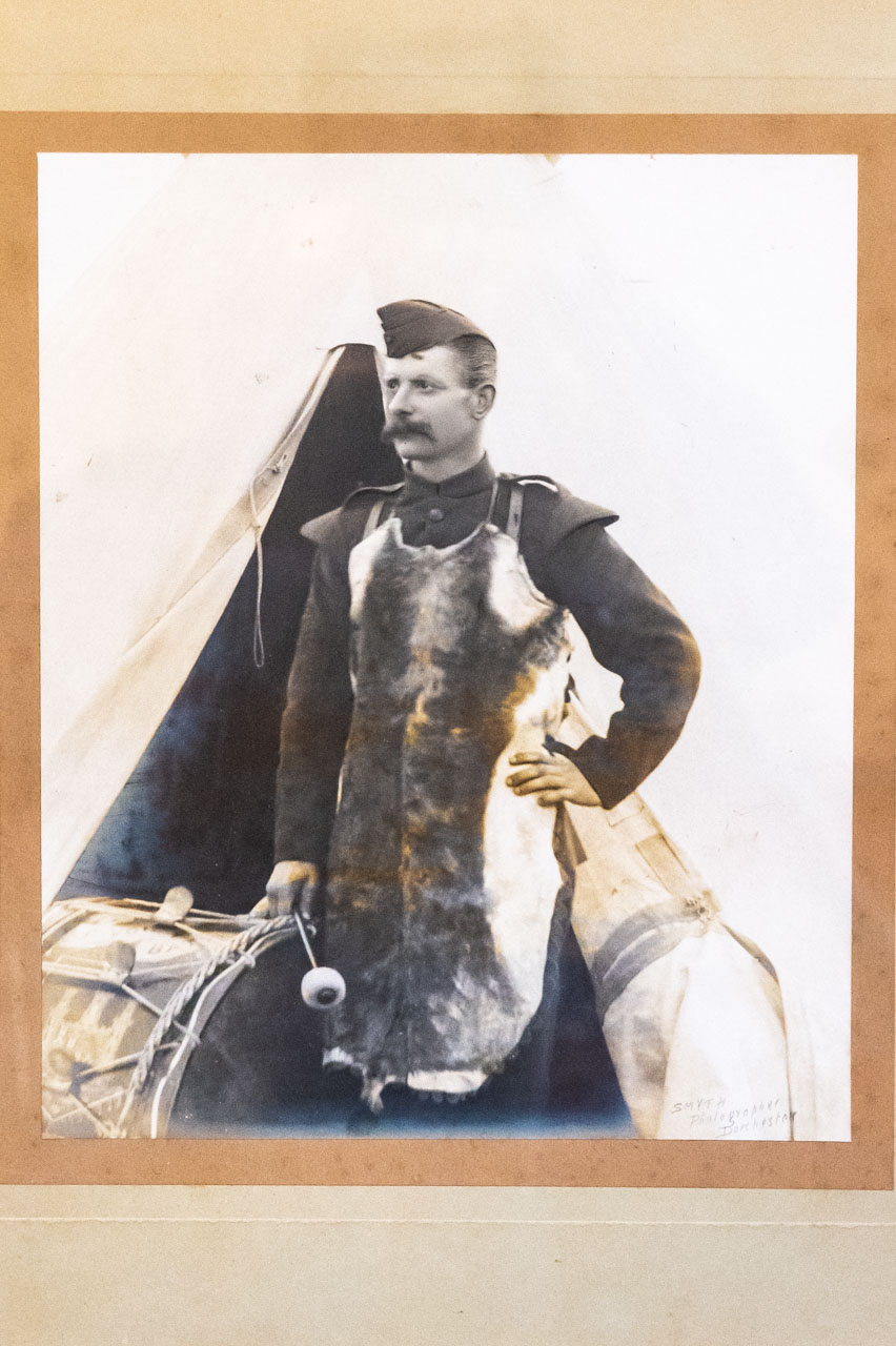 Grandfather George Payne, Drum Major in the Queen's Own Dorset Yeomanry Regiment