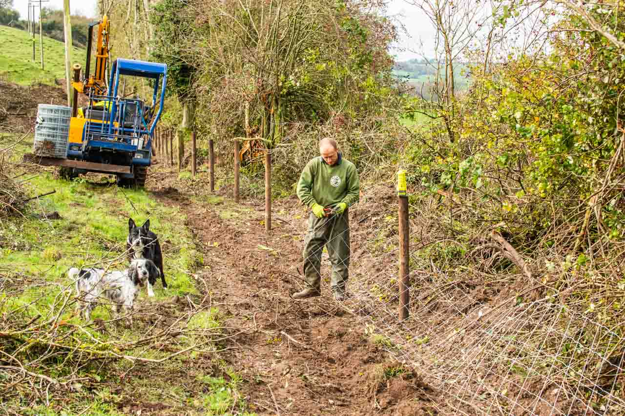 Simon, of Ring Fencing, working his way through 7000 metres of new fencing
