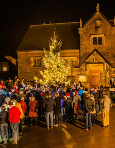 Christmas Eve in Cattistock and a super turnout for this year's Carol singing