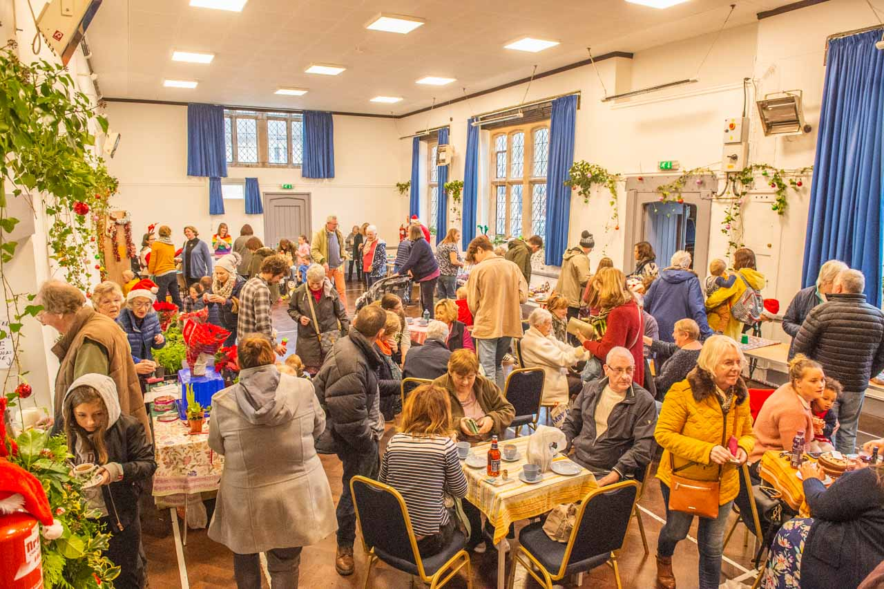 The Cattistock community enjoying a wonderful Christmas Bazaar