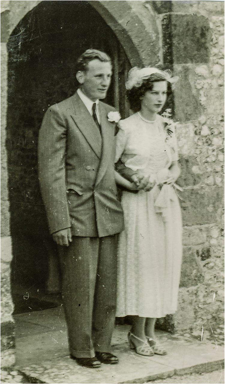 John and Mary's wedding day in 1951