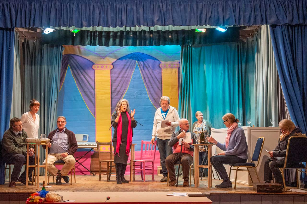 A typical stage full of 'Allo 'Allo intrigue, improvisation and humour