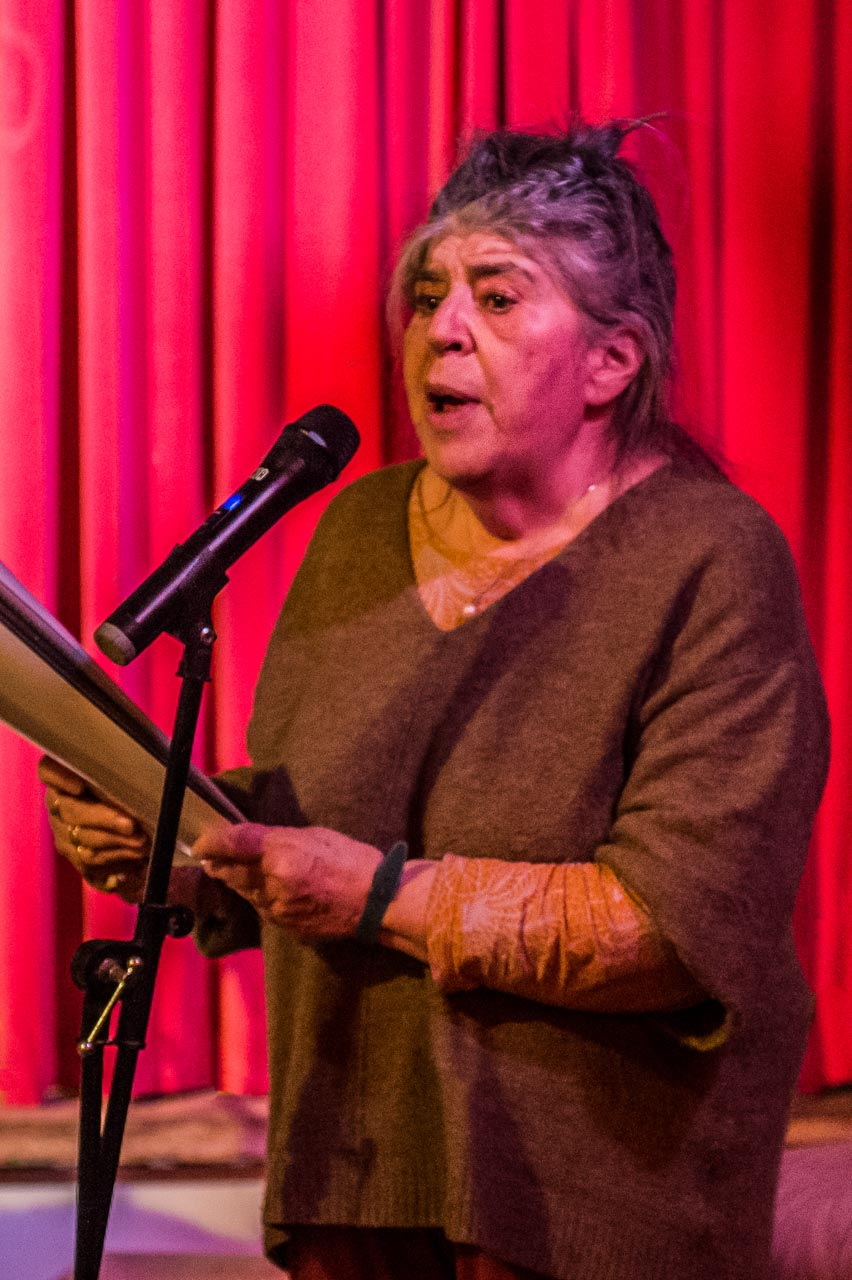 Annie Freud reading one of her poems