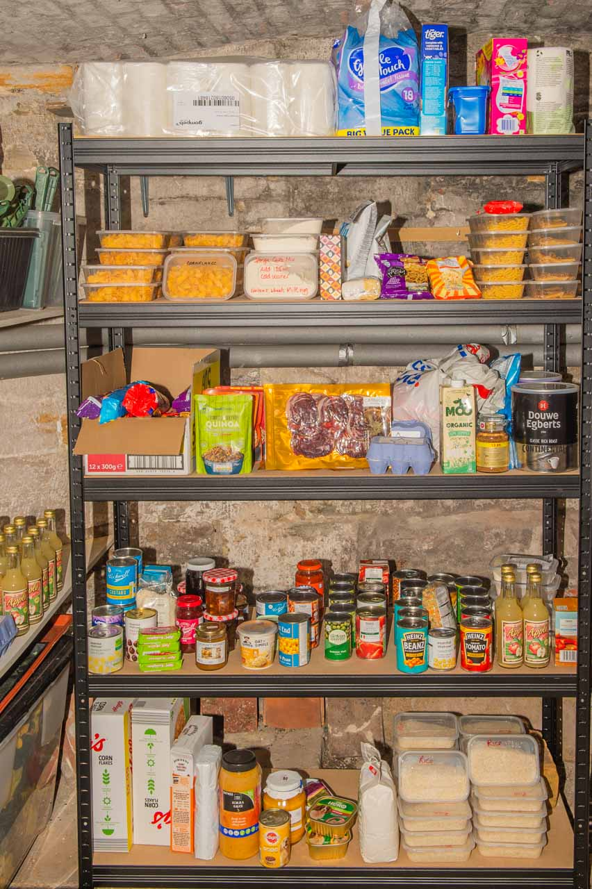 The backup Food Bank, with more being donated all the time