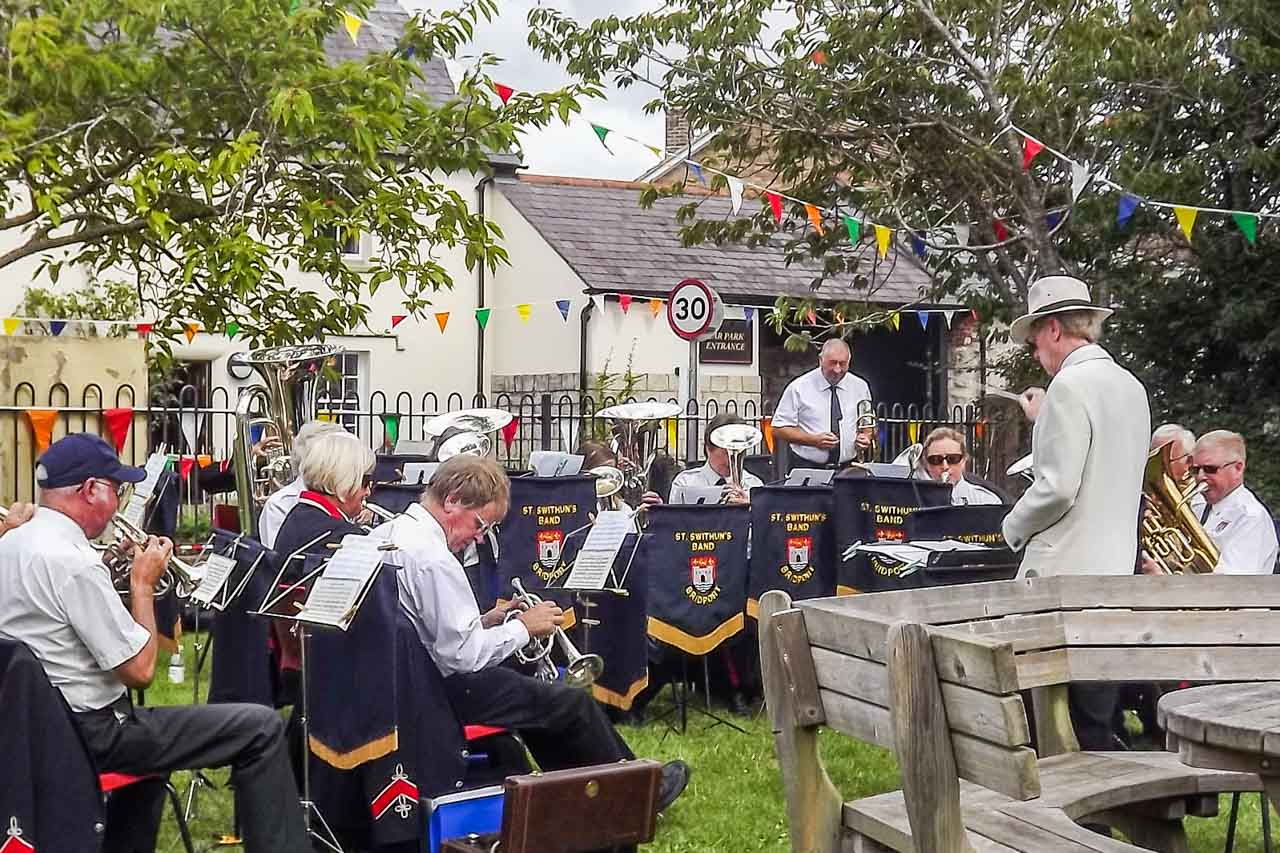 Herbie's photos: The Bridport St Swithins Band playing at the Cattistock Fete