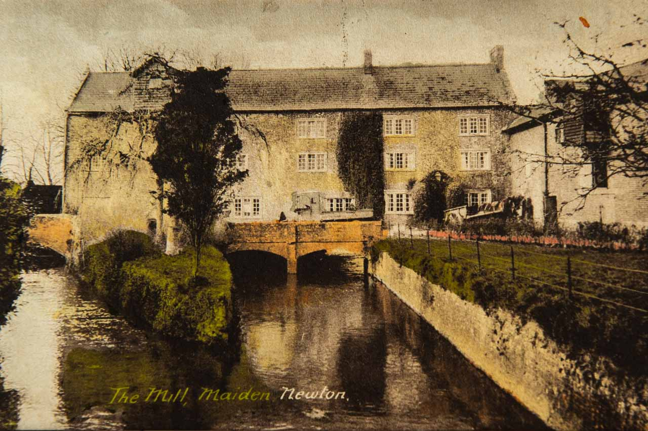 The Mill at Maiden Newton, where Dudley Greenaway DFC, from New Zealand, set up his Newtons carpet factory