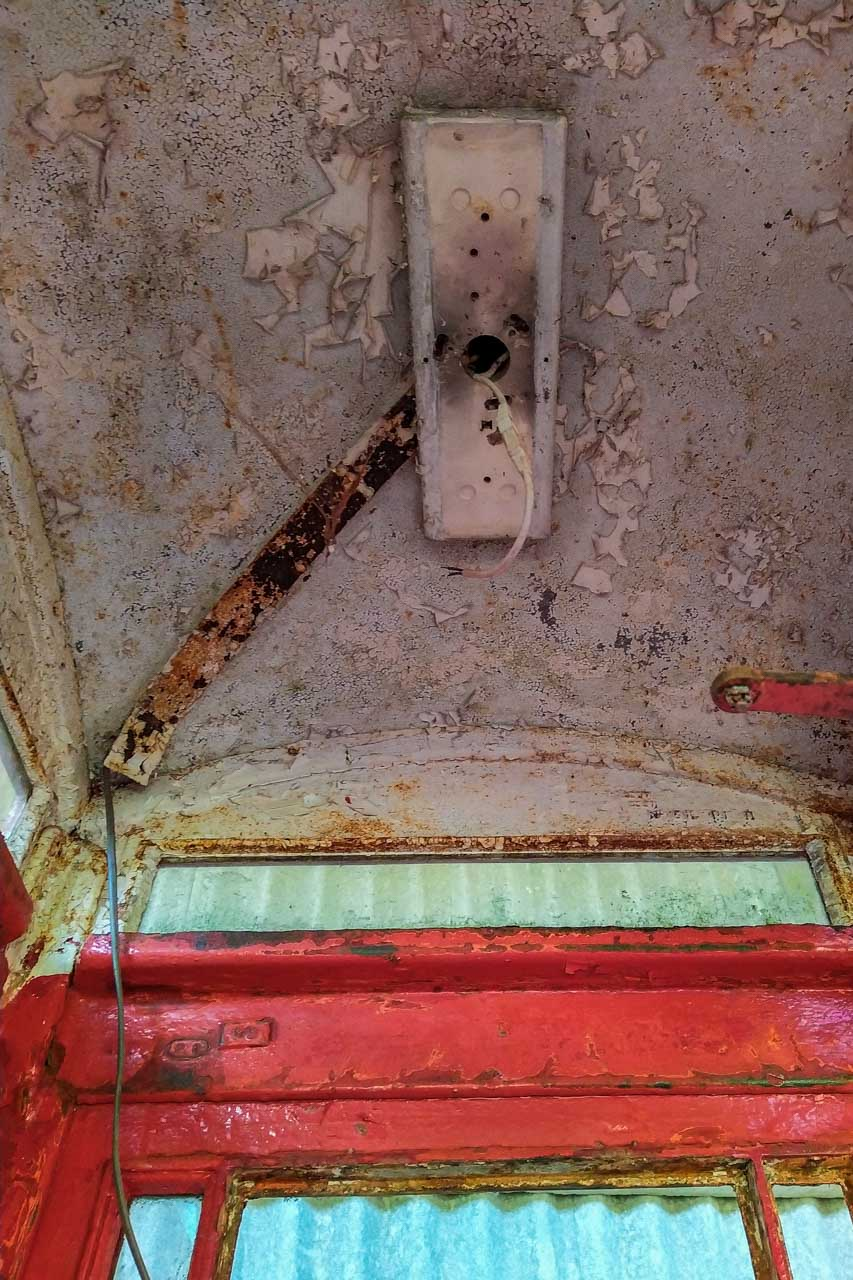 The ceiling of the Phone Box