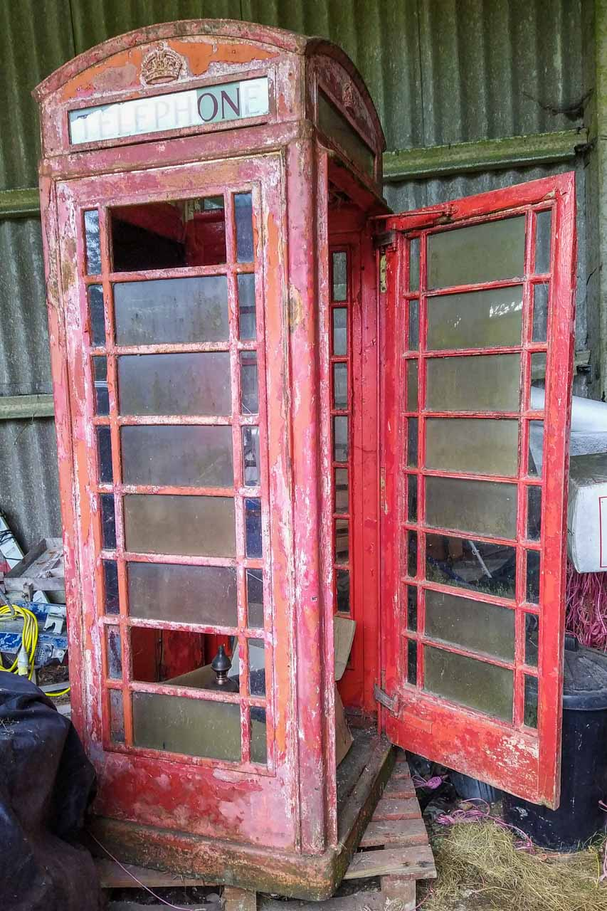 The Phone Box, as stored, ready for its renovation