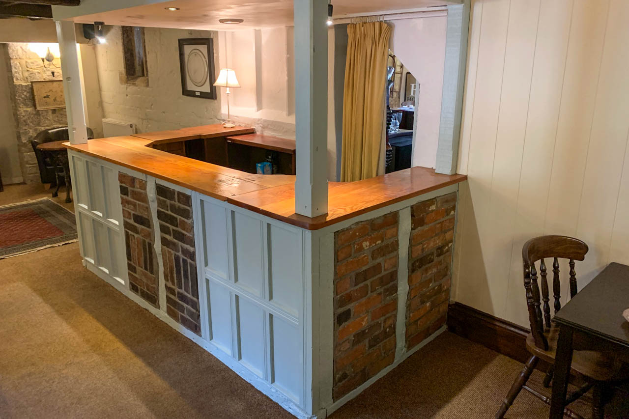 The back bar after its makeover