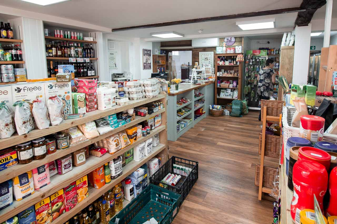 A spacious shop, with plenty of help when needed