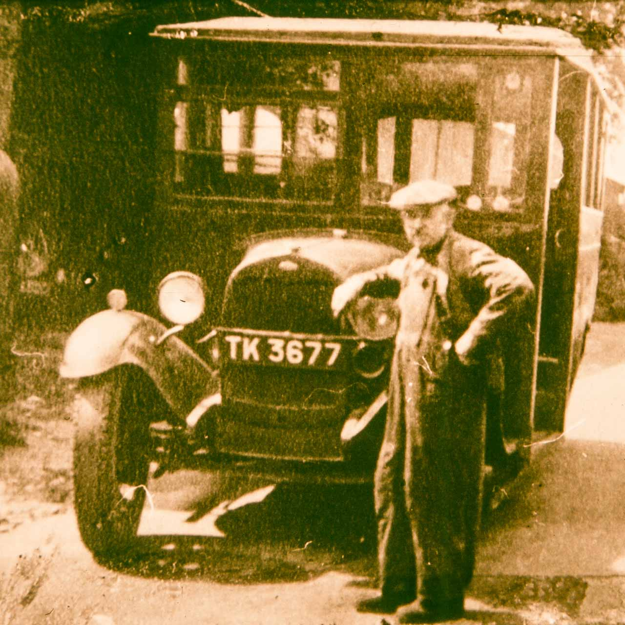 Alby and the 1929 Ford Model T 14 seater