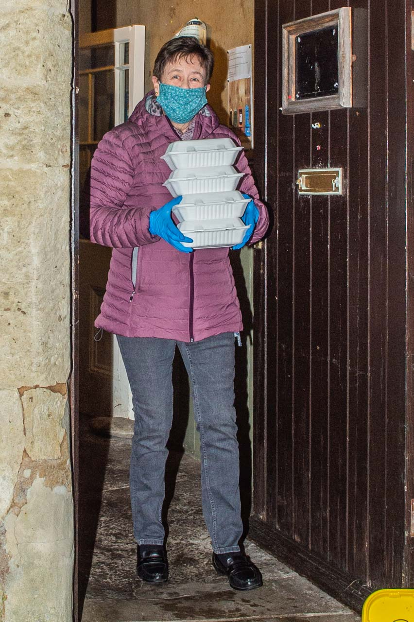 Ann delivering to Beech Tree and the top of the village