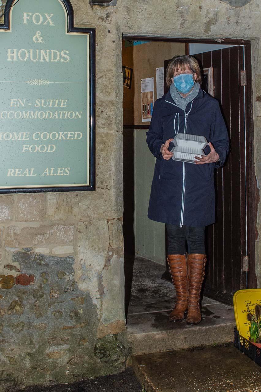 Barbara delivering to Rectory Gardens