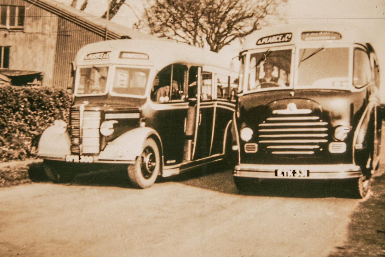 1951 and a brand new 33 seater ETK331 at the Cattistock garage