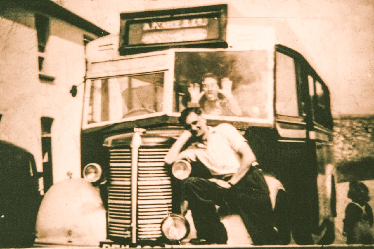 Ivor with BFX 482 outside Cattistock Post Office (where Christine and ian Anderson now live) c1948