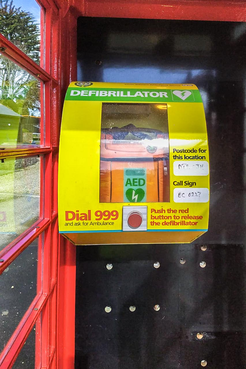 The Defibrillator, fully installed in its new location