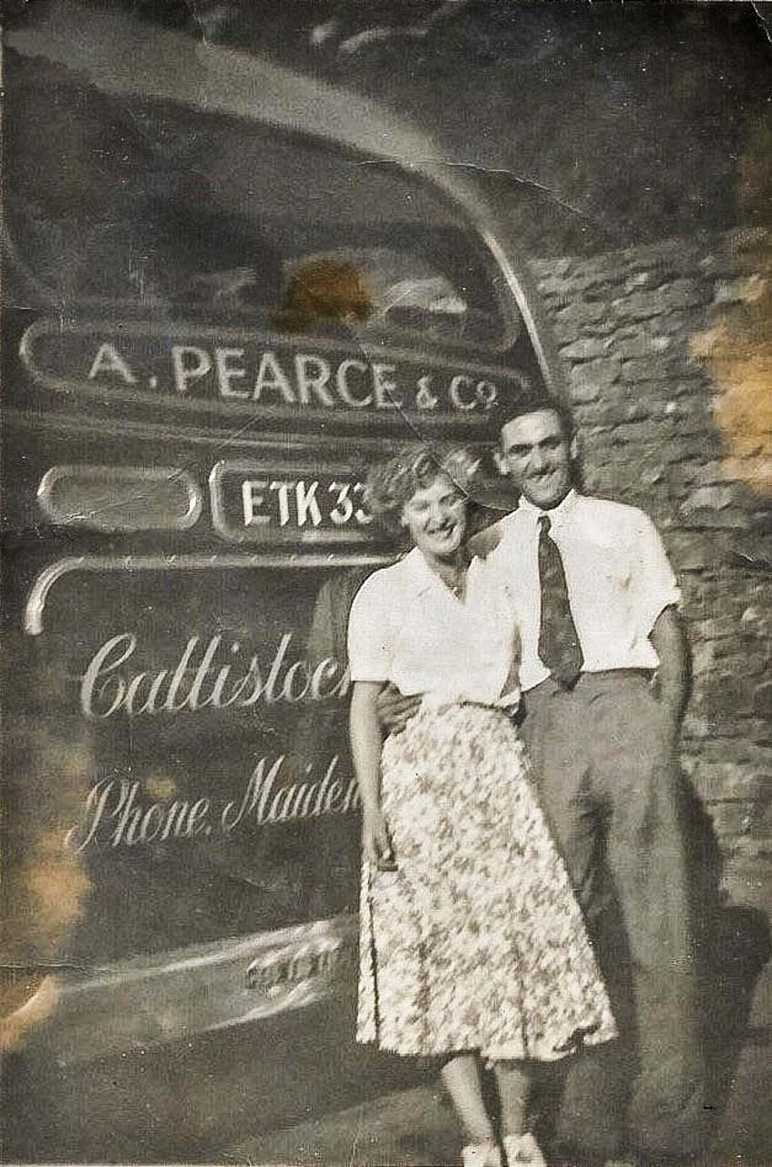Dave and future wife Shelia, on an Ideal Homes trip c1952 (photo © Paul Tompkins)