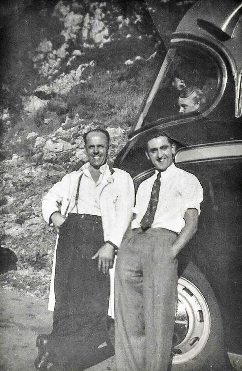 Lew and Dave c1952 (photo © Paul Tompkins)