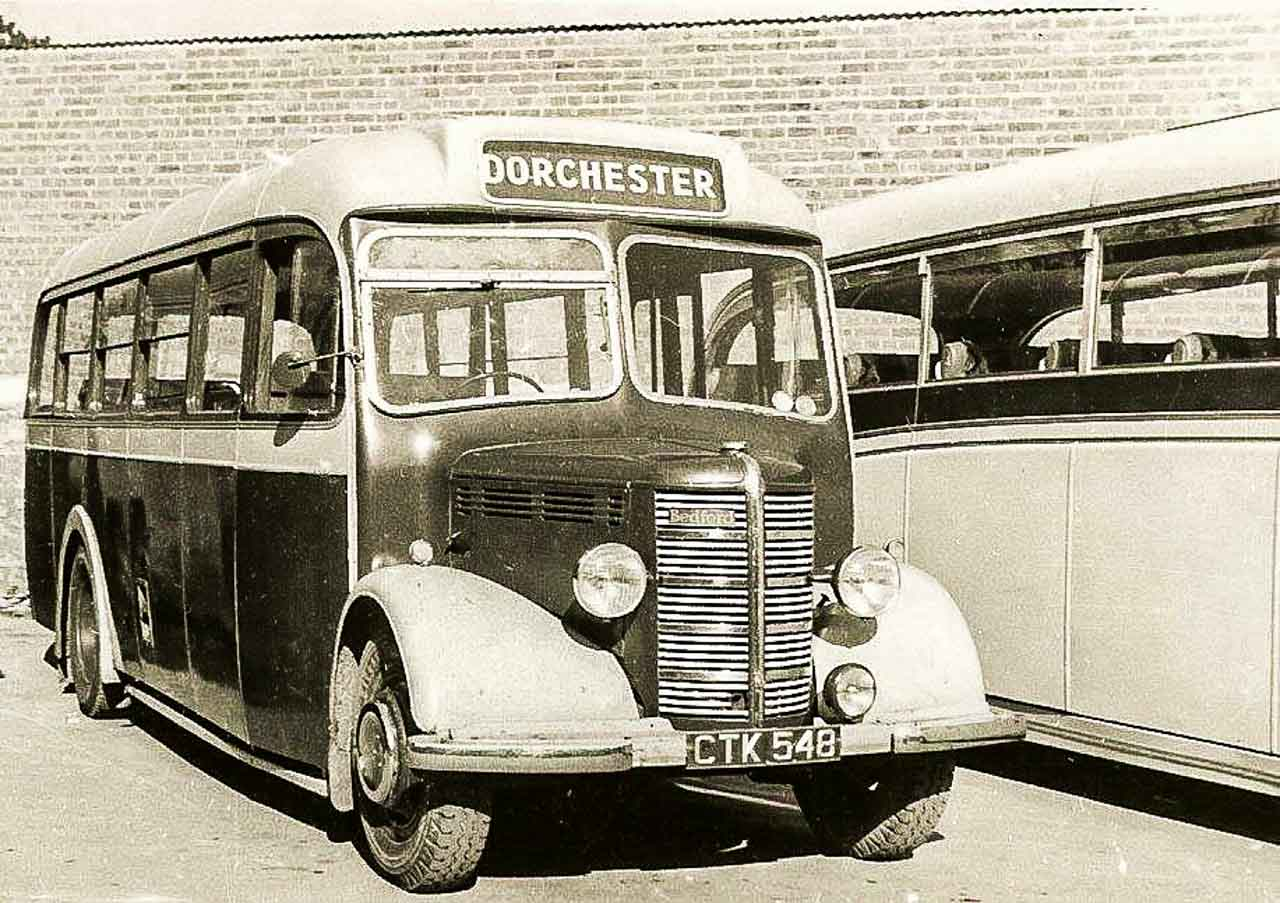 CTK 548 acquired with the Legg's business pictured in the Council Yard Dorchester c1954 (photo © R Grimley)