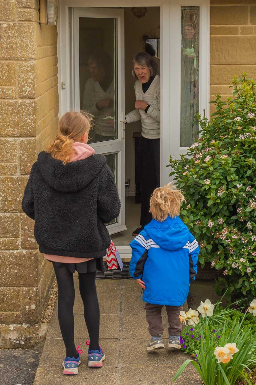 Barbara's turn to enjoy a surprise visit from Tilly and Ruben
