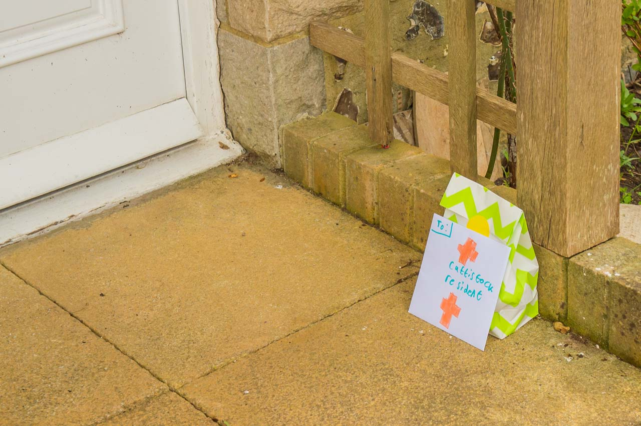 And occasionally there was no one at home, so a surprise was left on the doorstep for when the owner returned