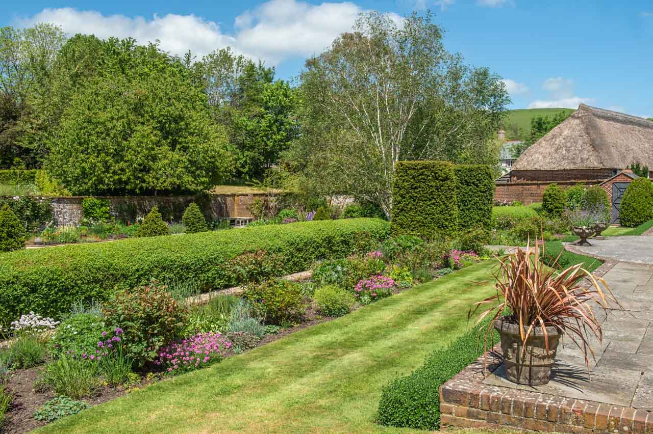 1.Sue and David: The Terrace border provides the initial welcome to this walled garden