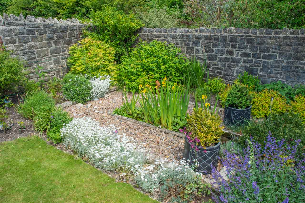 14. Denise and Peter: Another pond, this one in the inviting walled garden