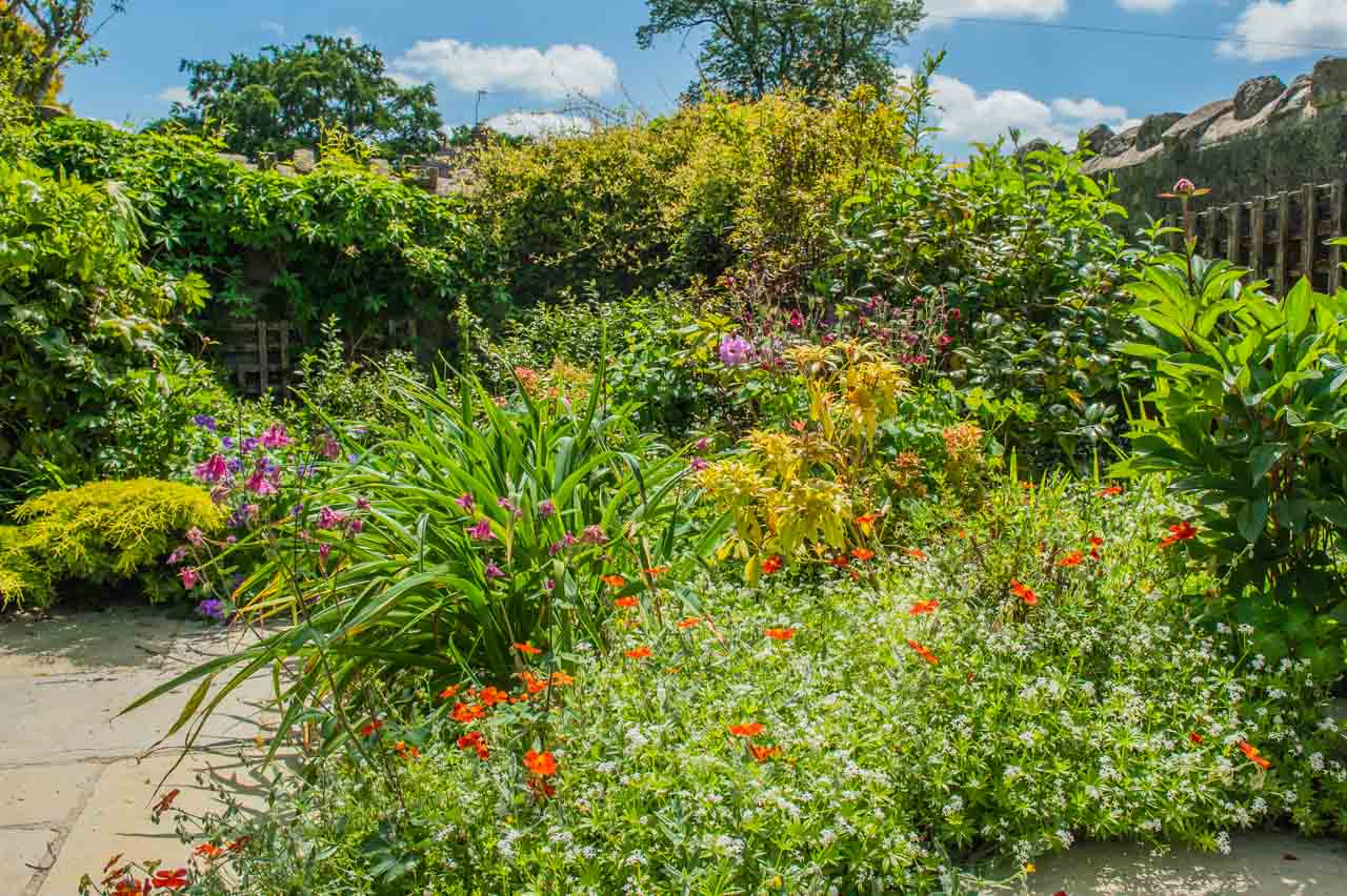 14. Denise and Peter: The South border of the walled garden