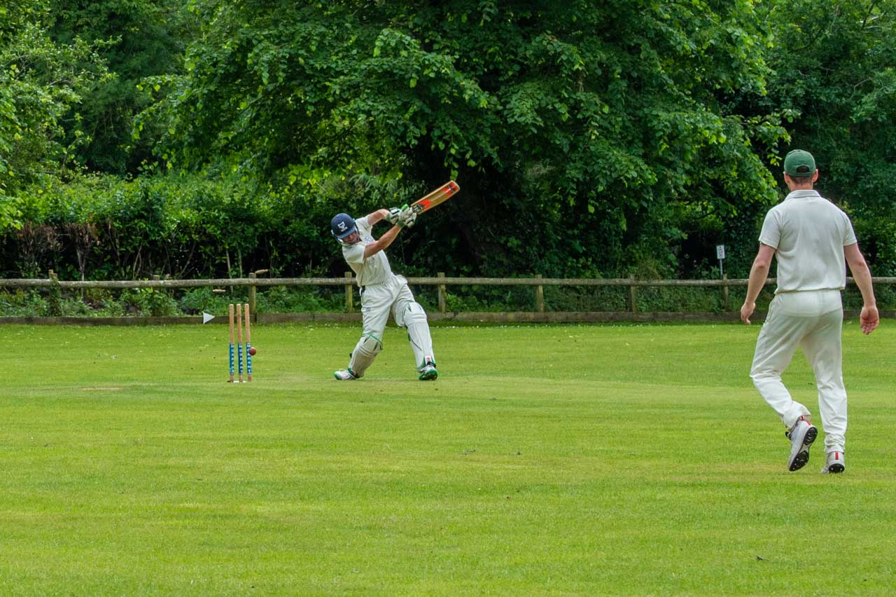 A quicker ball and Tim loses his wicket