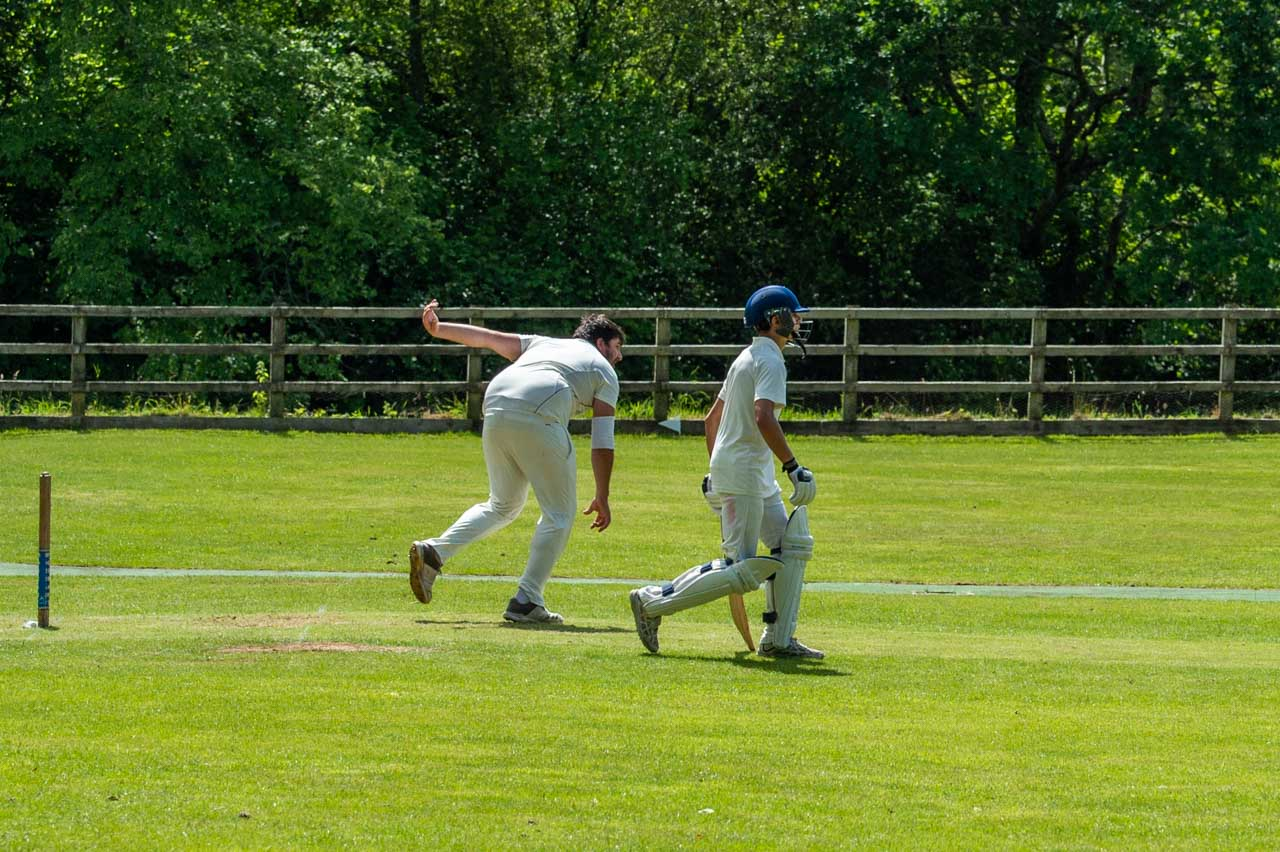 Brad opens the bowling for the Cattistock and Symene side