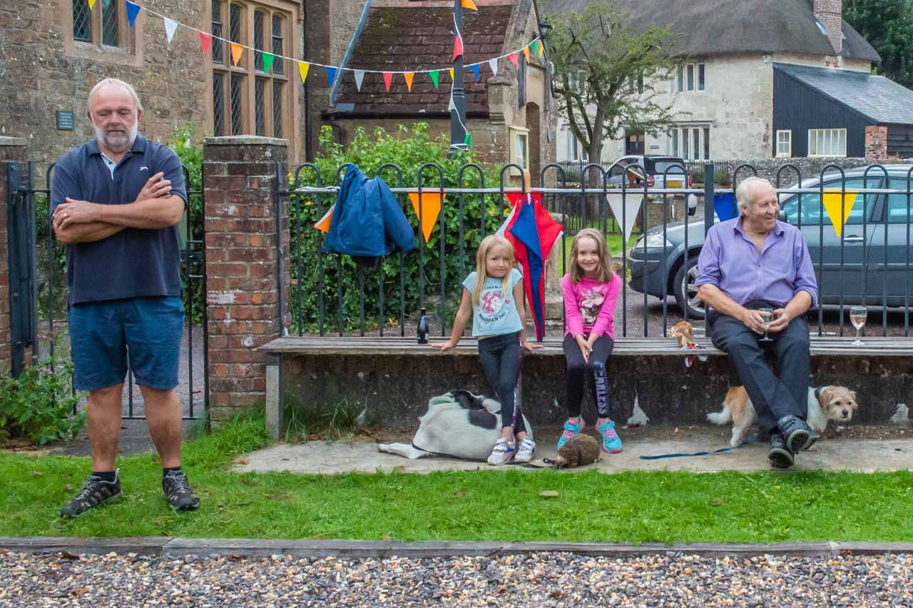 Liz through the lens: Esme, Cleo, Ed, Dennis and Celine watch the games as the Umpire grabs a welcome forty winks